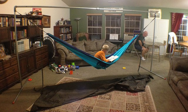Pipe Stand With A Ticket To The Moon Double Hammock The